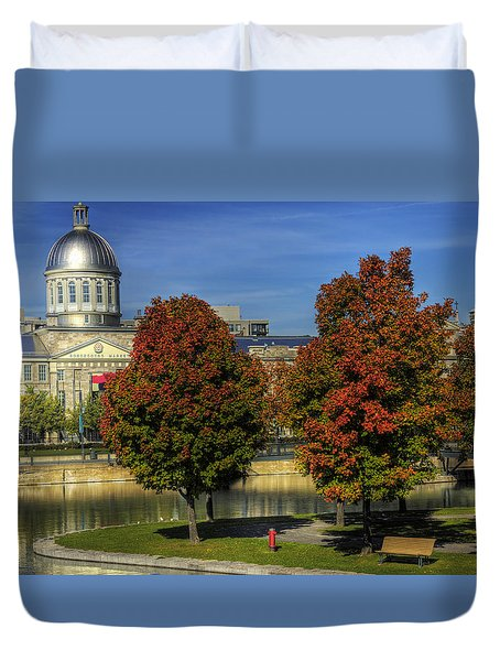 Bonsecours Market Duvet Cover by Nicola Nobile