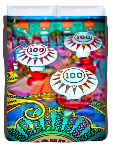Bonus Points - Pinball Duvet Cover