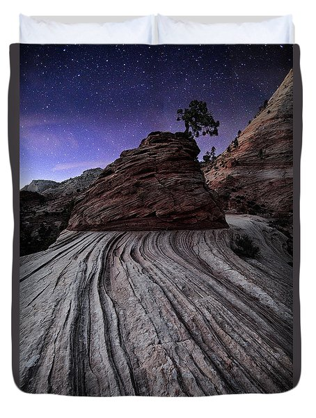 Bonzai In The Night Utah Adventure Landscape Photography By Kaylyn Franks Duvet Cover