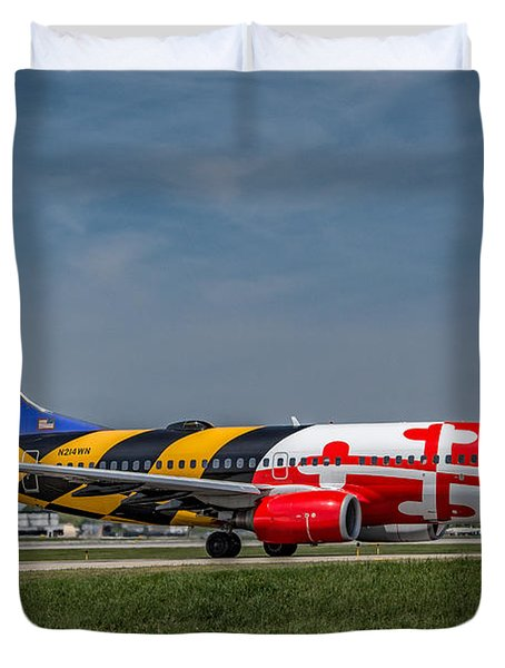 Boeing 737 Maryland Duvet Cover