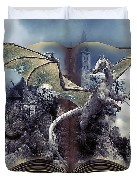 Book Of Fantasies Duvet Cover by G Berry