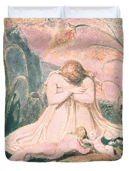 Book Of Thel Duvet Cover by William Blake