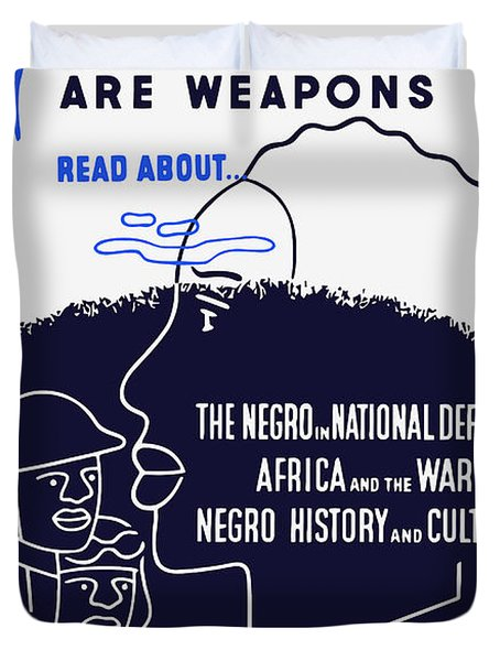 Books Are Weapons - Wpa Duvet Cover