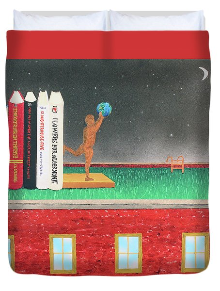Books Of Knowledge Duvet Cover