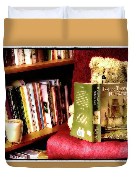 Bookworm Ted Duvet Cover