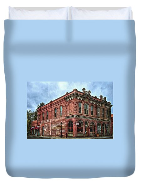Boomtown Saloon Jacksonville Oregon Duvet Cover by Thom Zehrfeld