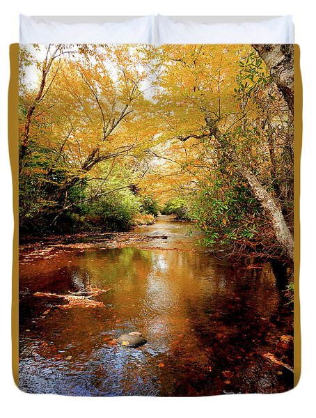 Duvet Cover featuring the photograph Boone Fork Stream by Meta Gatschenberger