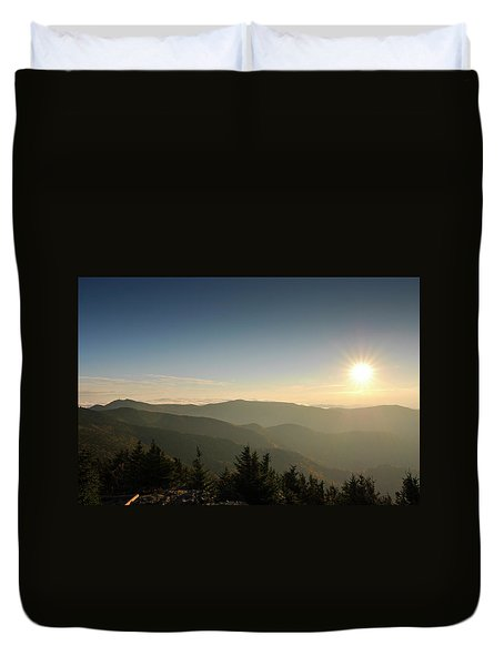 Boone Nc Area Sunset Duvet Cover