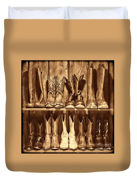 Boot Rack Duvet Cover by American West Legend By Olivier Le Queinec