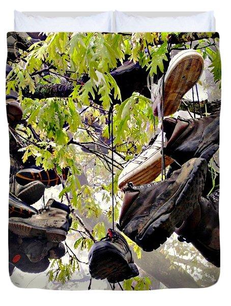 Boot Tree At Neels Gap Duvet Cover