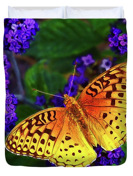 Boothbay Butterfly Duvet Cover