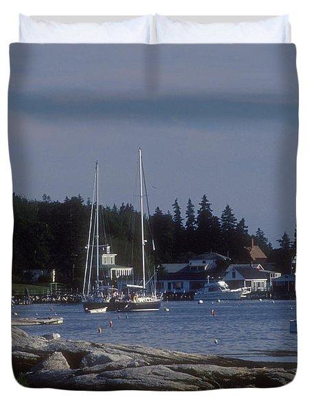 Boothbay Harbor In Maine Duvet Cover