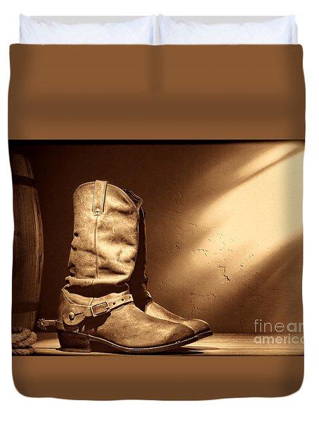 Boots At The Hacienda  Duvet Cover
