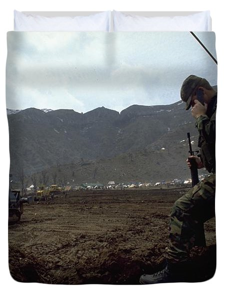 Boots On The Ground Duvet Cover
