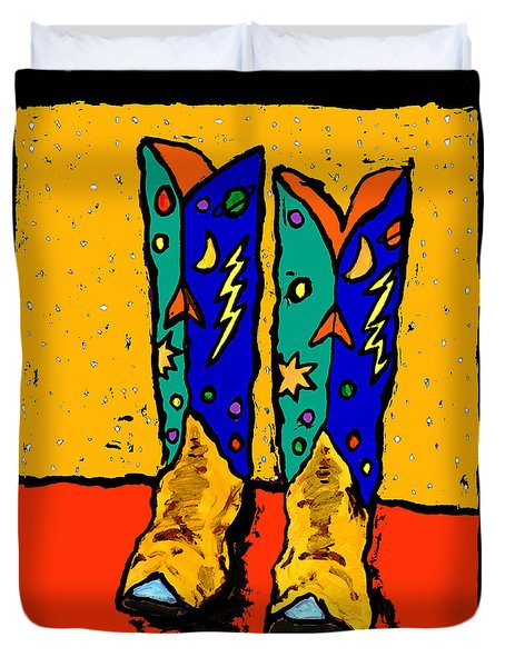 Boots On Yellow 24x30 Duvet Cover
