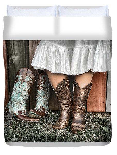 Boots X 2 Duvet Cover