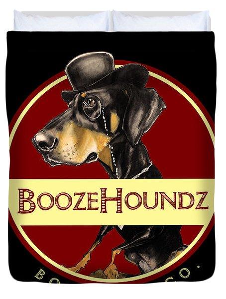 Boozehoundz Bottling Co. Duvet Cover
