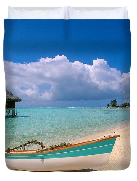 Bora Bora, Hotel Moana Duvet Cover