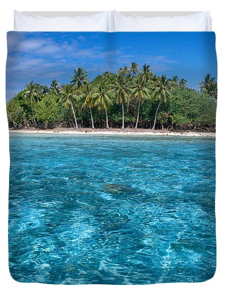 Bora Bora, Motu Duvet Cover by Joe Carini - Printscapes