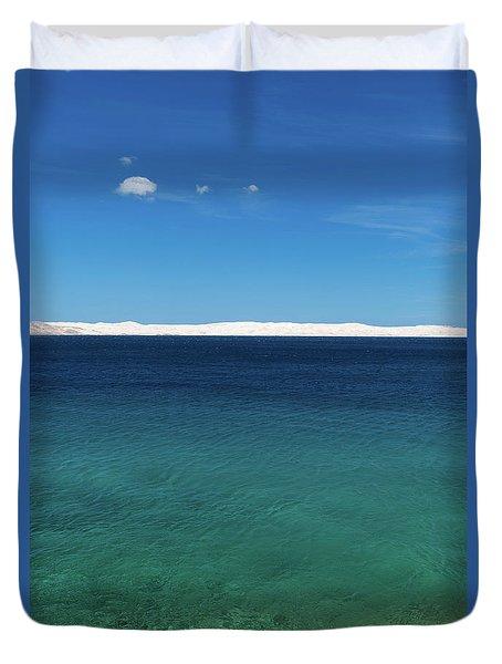 Duvet Cover featuring the photograph Bora In Velebit Kanal I by Davor Zerjav