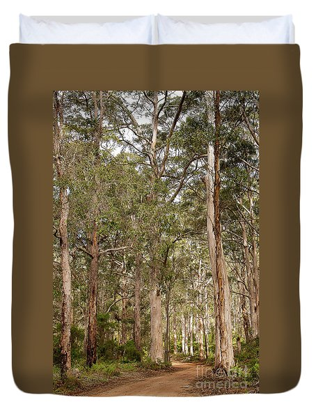 Duvet Cover featuring the photograph Boranup Drive Karri Trees by Ivy Ho