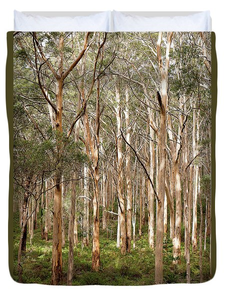 Duvet Cover featuring the photograph Boranup Forest Portrait by Ivy Ho