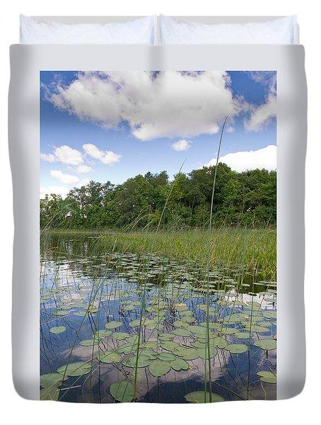 Borden Lake Lily Pads Duvet Cover