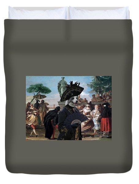 Border Collie Art Canvas Print - The Minuet Duvet Cover