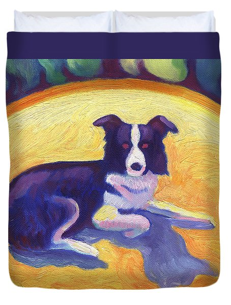 Border Collie Duvet Cover
