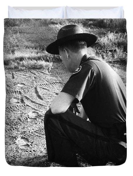 Border Patrol Inspector Duvet Cover by Granger