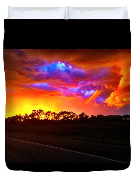 Duvet Cover featuring the photograph Borderline by Zafer Gurel