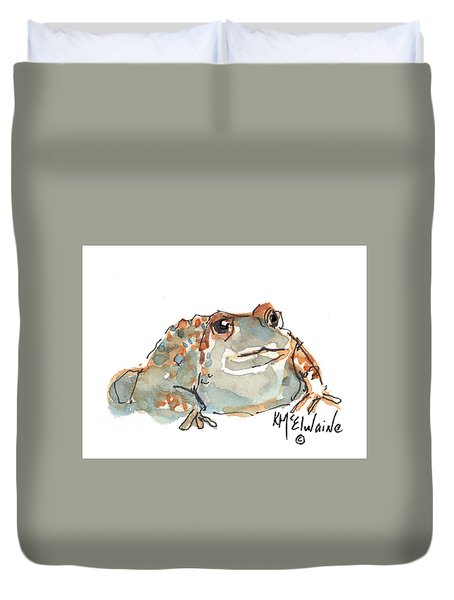 Boreal Chorus Frog Duvet Cover by Kathleen McElwaine