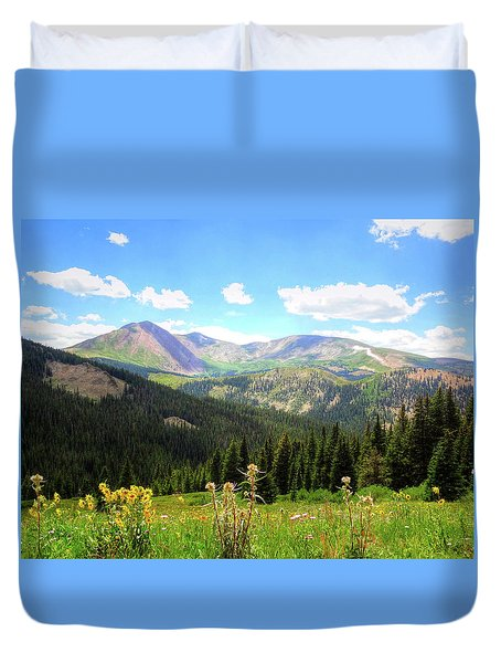 Boreas Pass Colorado Duvet Cover