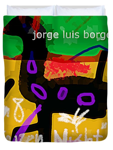 Borges Seven Nights Poster  Duvet Cover