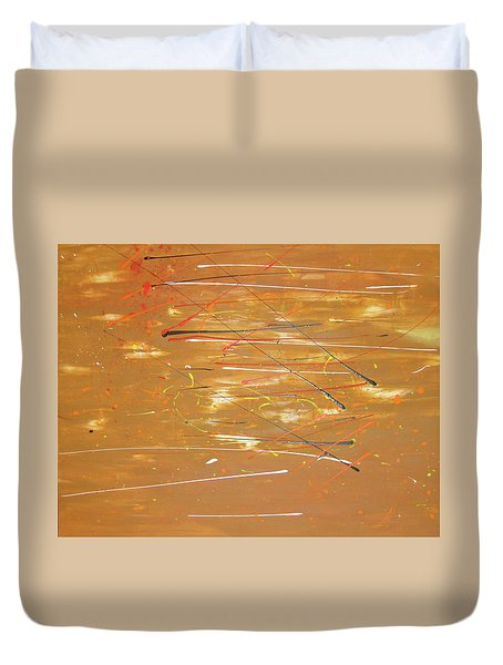 Duvet Cover featuring the painting Born Again by Michael Lucarelli