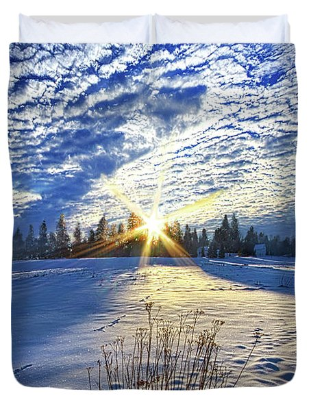 Duvet Cover featuring the photograph Born As We Are by Phil Koch