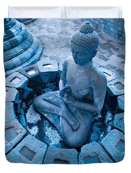 Borobudur Temple Duvet Cover