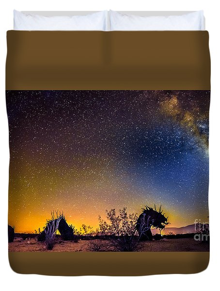 Borrego Springs Dragon Duvet Cover
