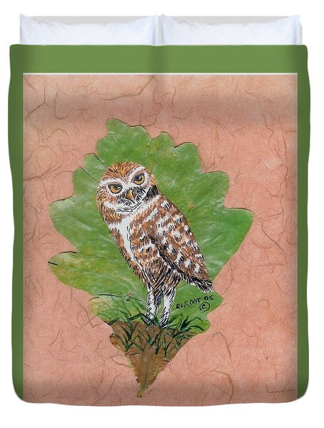 Borrowing Owl Duvet Cover by Ralph Root