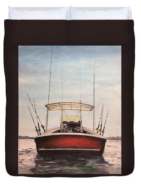 Helen's Boat Duvet Cover by Stan Tenney