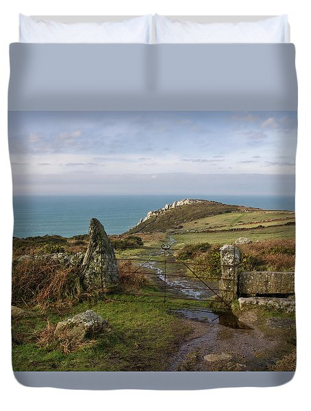Bosigran In North Cornwall Duvet Cover