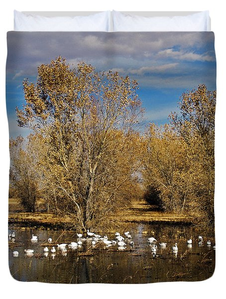 Bosque Del Apache Duvet Cover by Kurt Van Wagner