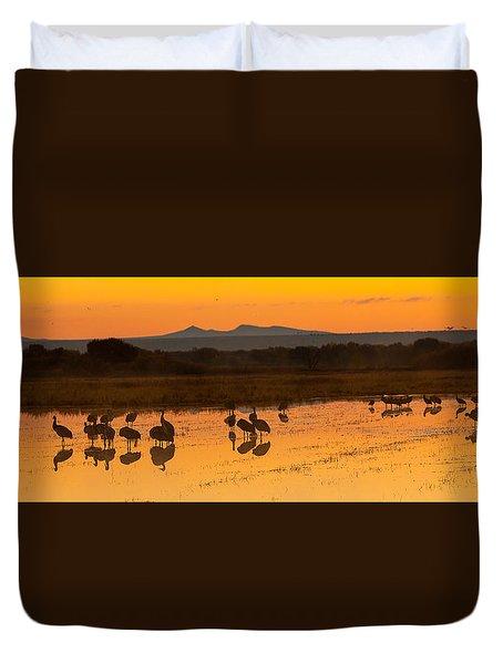 Bosque Sunrise Duvet Cover by Alan Vance Ley