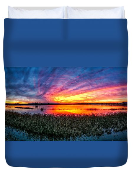 Bosque Sunrise Duvet Cover