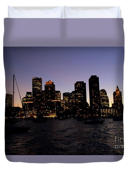 Boston At Night Duvet Cover
