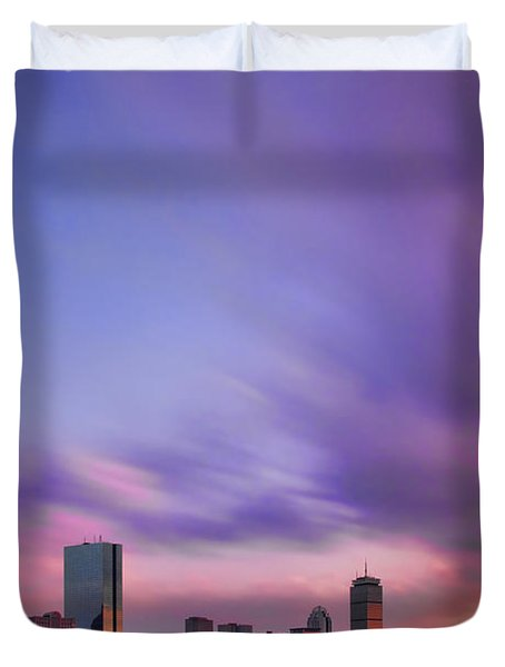 Boston Afterglow Duvet Cover