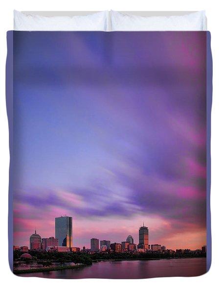 Boston Afterglow Duvet Cover by Rick Berk