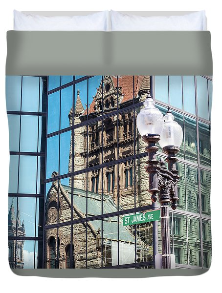 Boston At Different Angle Duvet Cover