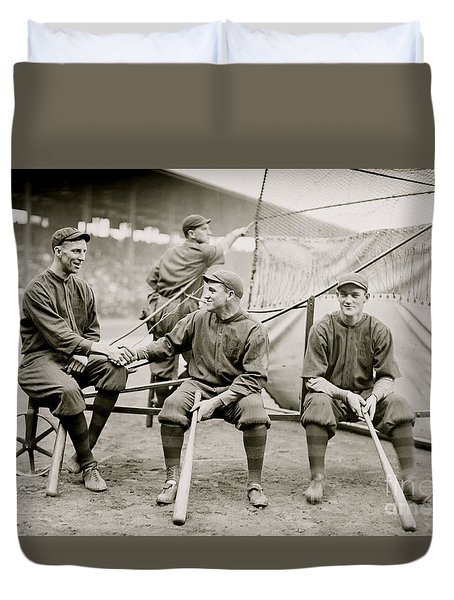 Boston Baseball Players   Gowdy, Tyler, Connolly Duvet Cover by American School