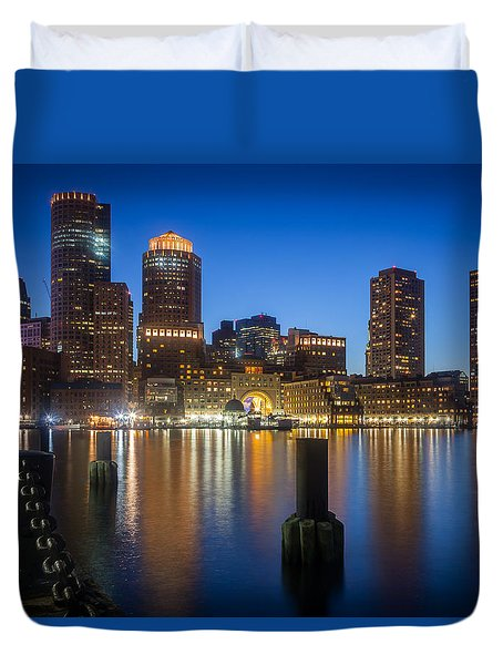 Boston Blues Duvet Cover